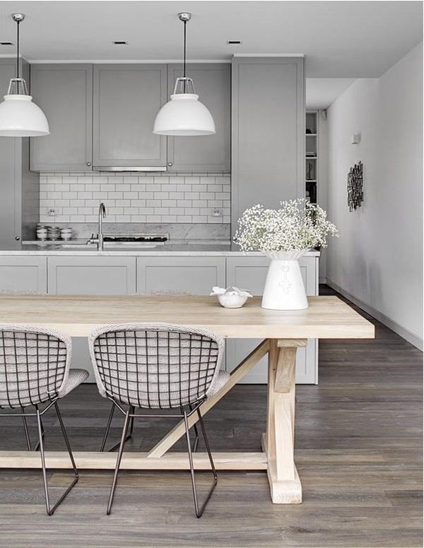 Decoração de cozinhas cinza