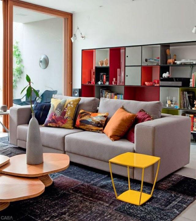 Sala De Tv Sofá Cinza ~ Inspiração sala com sofá cinza