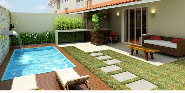 Como renovar a rea da piscina - Fotos de patios de casas ...