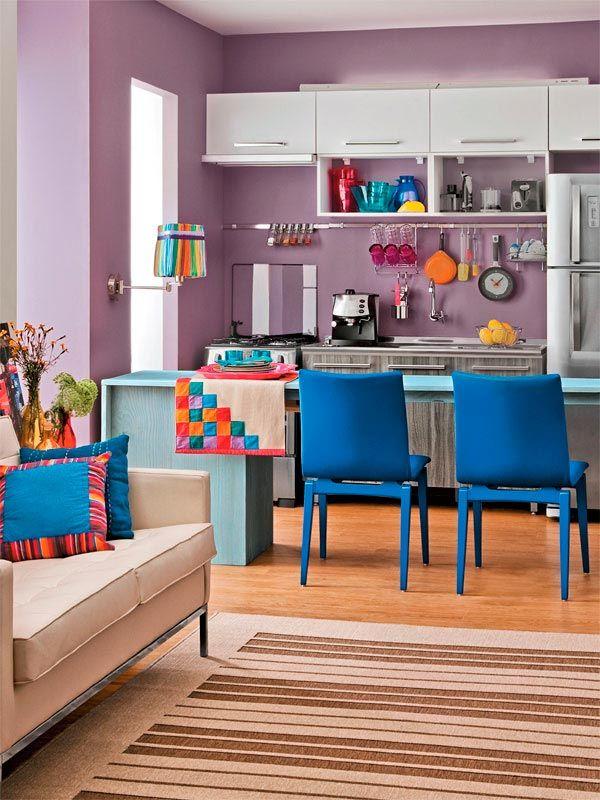 Cozinhas coloridas na decoração 10
