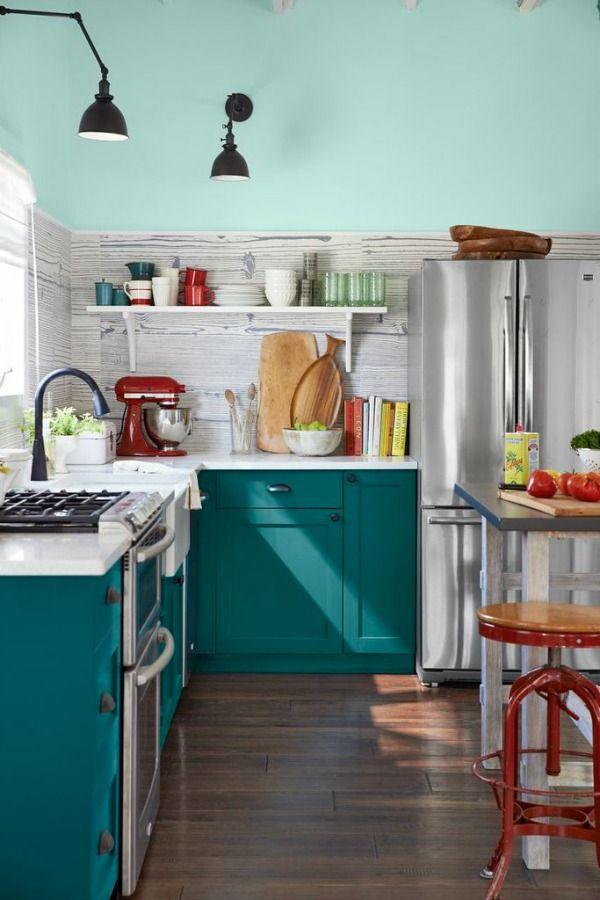 Cozinhas coloridas na decoração 2