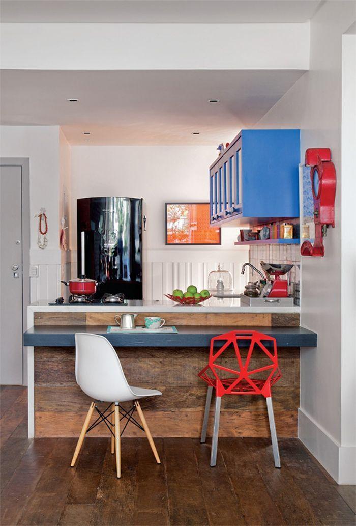 Cozinhas coloridas na decoração 6