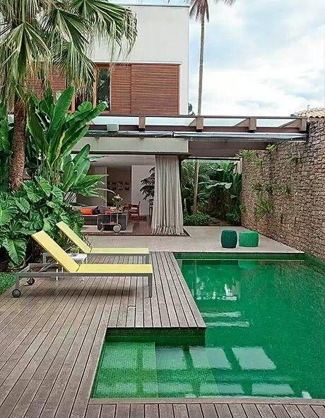 Ideias de pisos para rea externa for Piscinas hinchables pequenas baratas