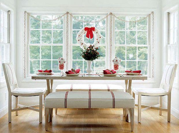 Sala de jantar decorada para o Natal 10
