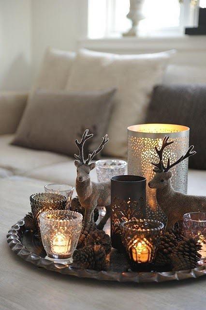 Sala de jantar decorada para o Natal 11