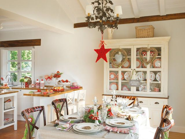 Sala de jantar decorada para o Natal 2