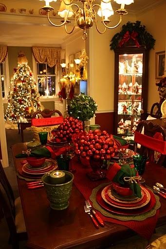 Sala de jantar decorada para o Natal 3