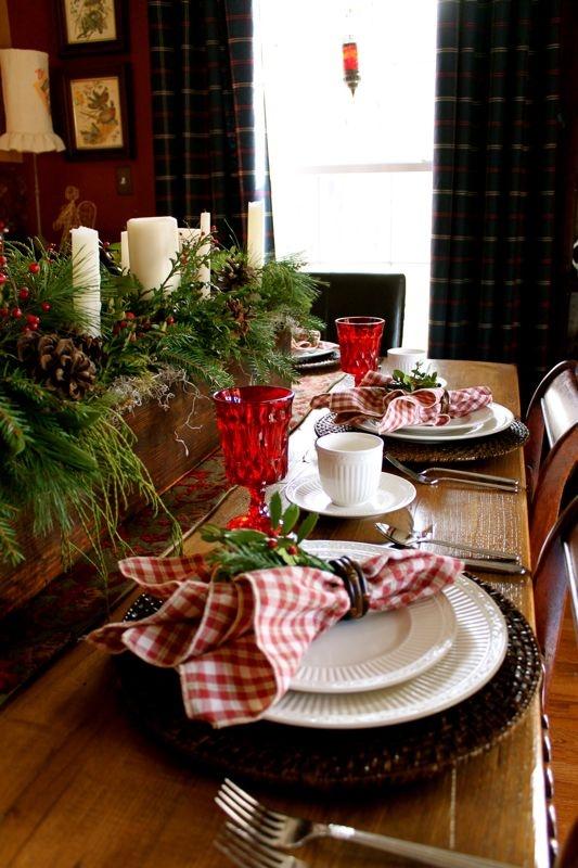 Sala de jantar decorada para o Natal 6
