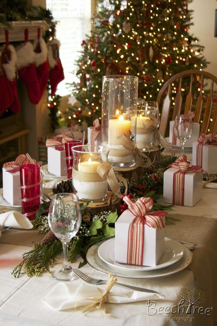 Sala de jantar decorada para o Natal 8