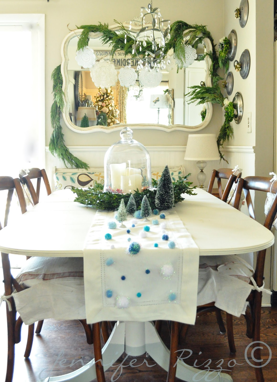 Sala de jantar decorada para o Natal 9