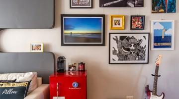 decoração com foto na parede