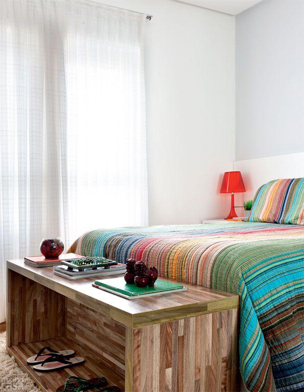 Decoração de quarto colorido
