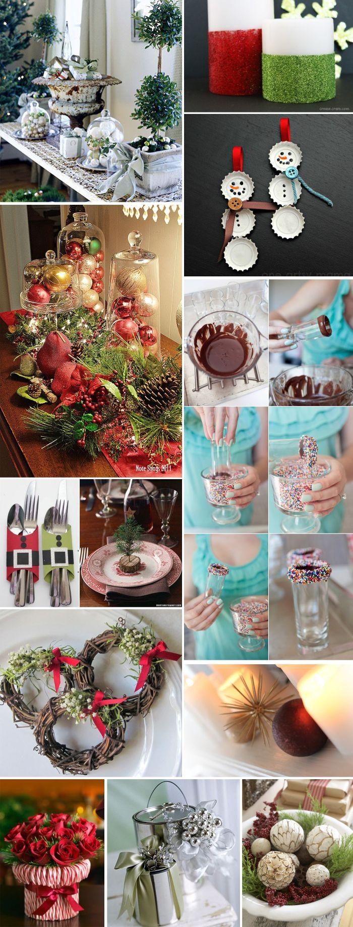 Decoraç u00e3o de natal simples e barata -> Decoração De Natal Simples E Barata Para Mesa