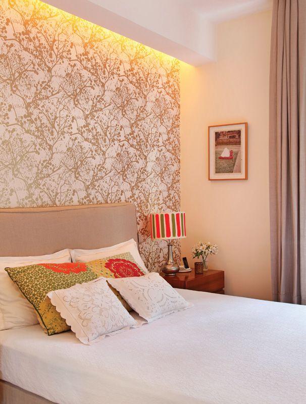 Papel de parede na decoração ~ Revestir Parede De Quarto Com Tecido