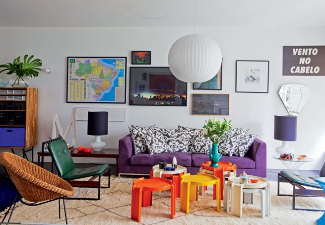 Sala de estar retr for Como e living room em portugues