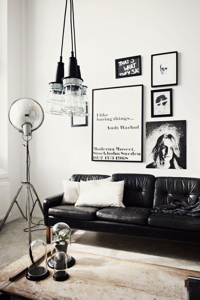 Sala em preto e branco 4