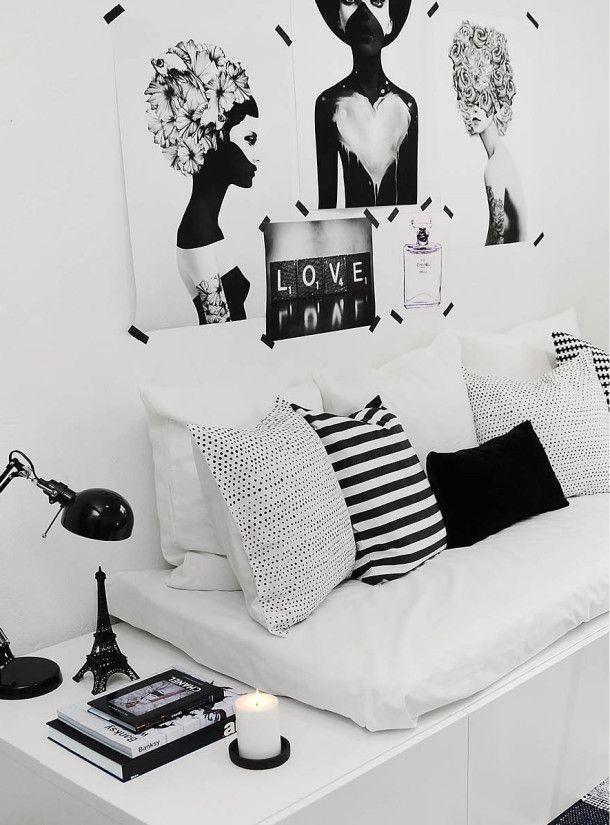 Sala em preto e branco 5