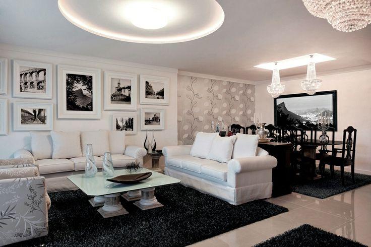 Sala em preto e branco 7