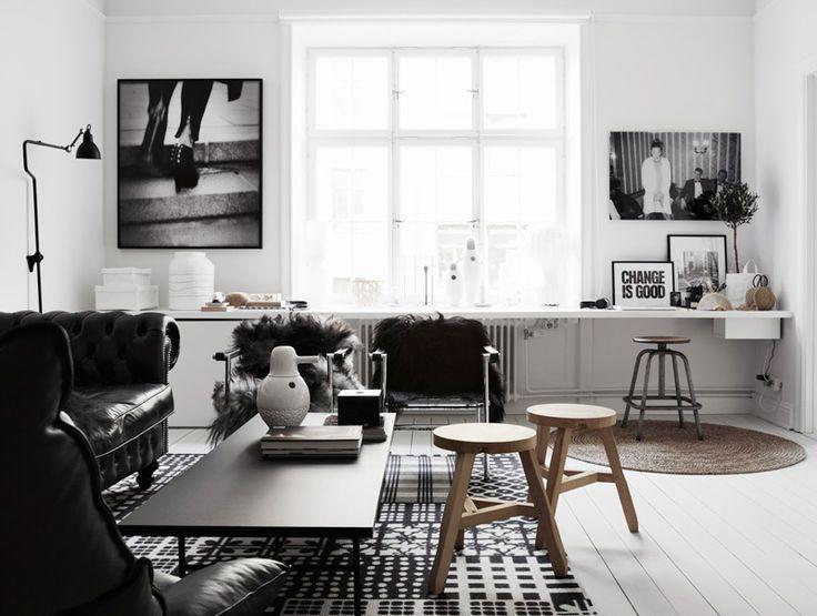 Sala em preto e branco 9
