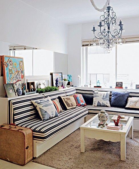 Sofá em L na decoração