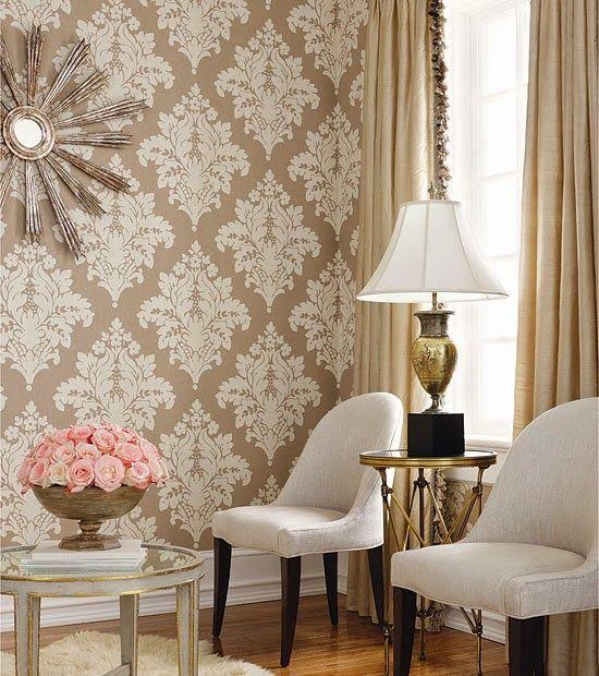 Como aplicar tecido na parede -> Decoracao De Banheiro Com Tecido Na Parede