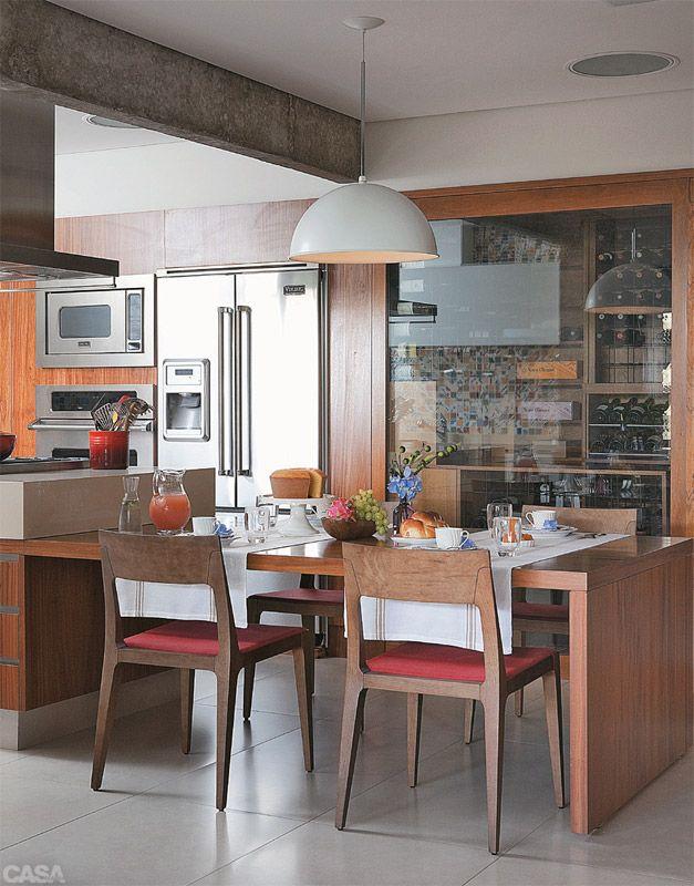 Cozinha e sala de jantar conjugadas 3