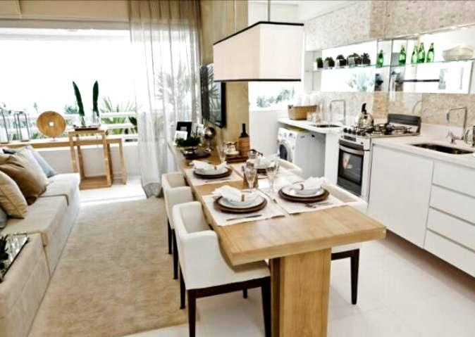 Cozinha e sala de jantar conjugadas 6
