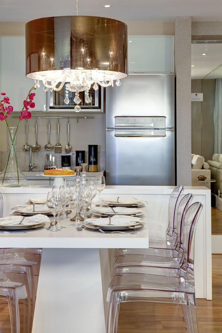 Lustre Para Sala Pequena De Jantar ~ Cozinha e sala de jantar conjugadas 8