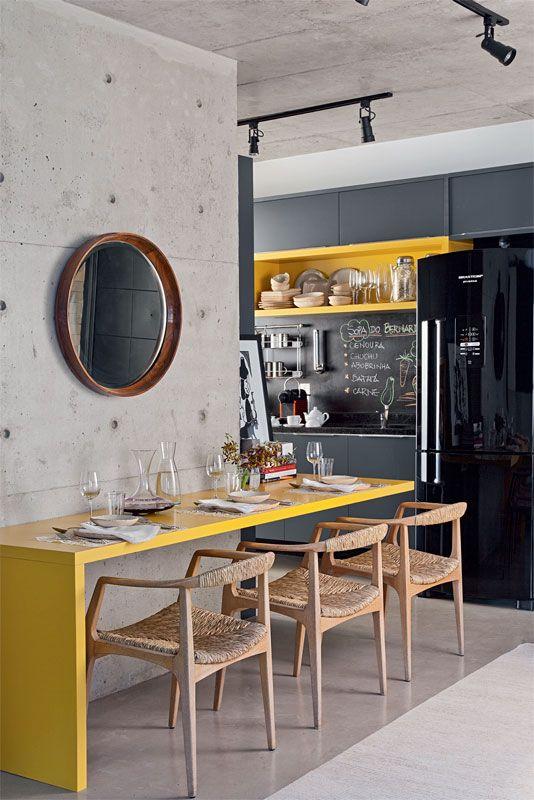 Cozinha e sala de jantar conjugadas 9