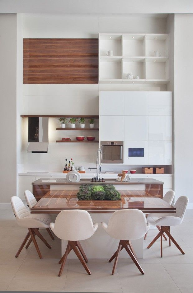 Cozinha e sala de jantar conjugadas # Cozinha Com Ilha E Sala Integrada