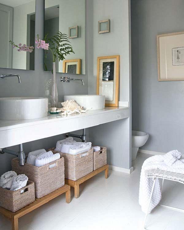 Dicas para organizar o banheiro -> Cesta Para Pia De Banheiro