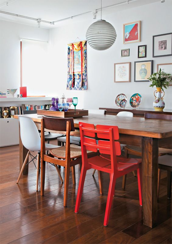 Mesa Sala De Jantar Retro ~ Mesa de jantar na decoração da sala ou da cozinha 2