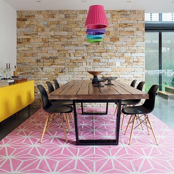 Mesa de jantar na decoração da sala ou da cozinha 9