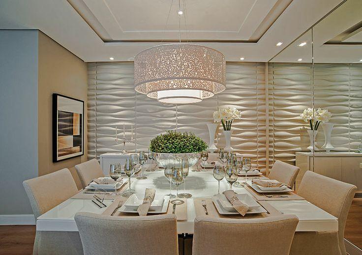 Vidro Na Sala De Jantar ~ Mesa de jantar na decoração da sala ou da cozinha