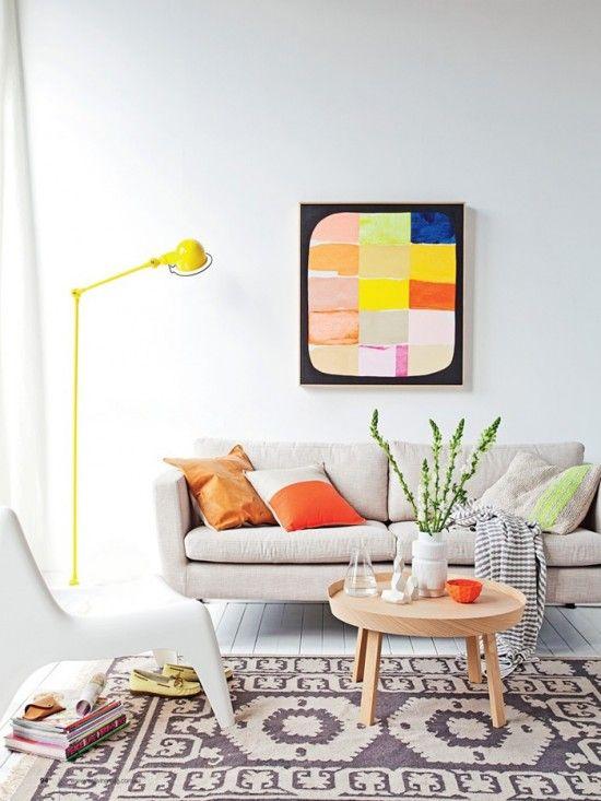 Inspiração de cores para sala de estar