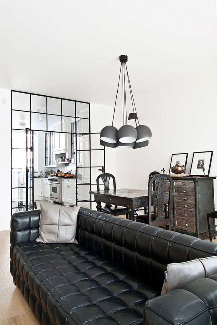 Modelos de sofás pretos 10