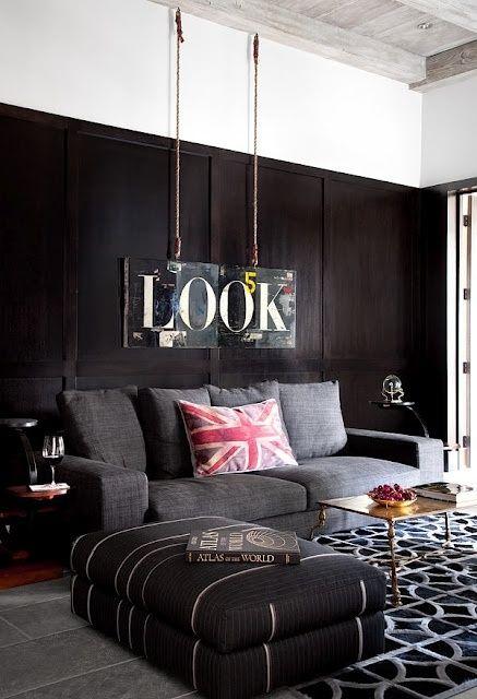 Modelos de sofás pretos 4