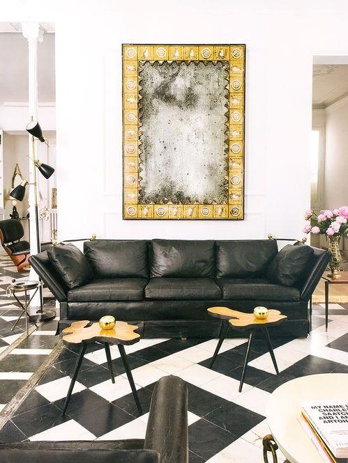 Modelos de sofás pretos 6