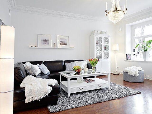 Modelos de sofás pretos 7