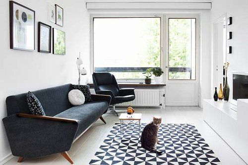 Modelos de sofás pretos 8