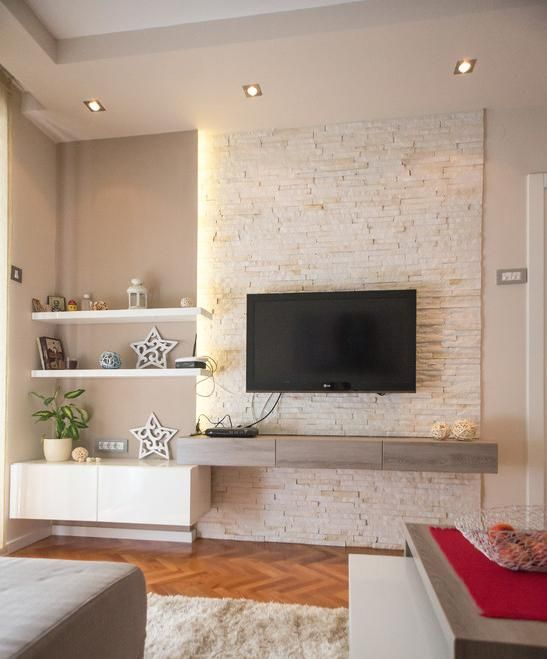Como montar uma sala confort vel e estilosa - Television pequena plana ...