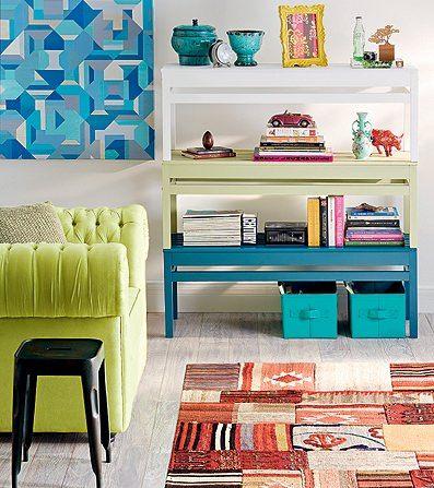 Como usar móveis coloridos 10