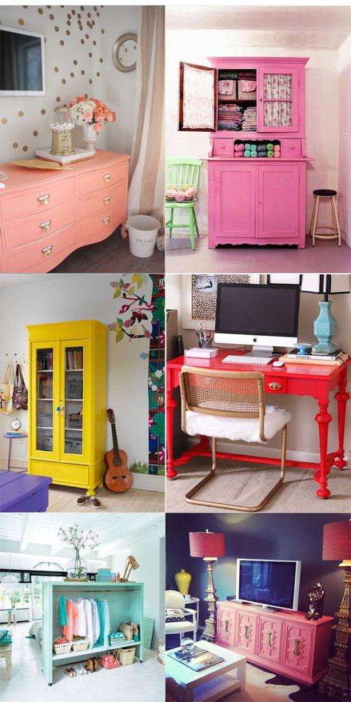Como usar móveis coloridos 12