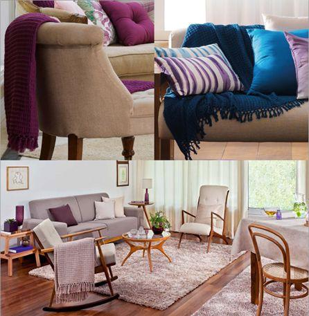 Como usar mantas no sofá 3