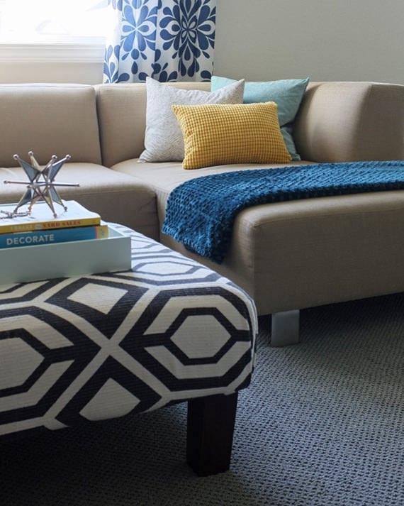 Como usar mantas no sofá 5