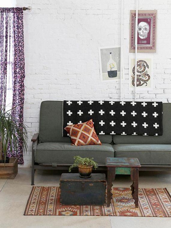 Como usar mantas no sofá 7