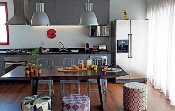 Mesa de refeições na cozinha 5