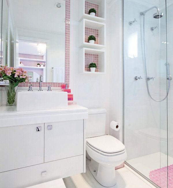 Banheiros pequenos -> Banheiro Pequeno Quarto