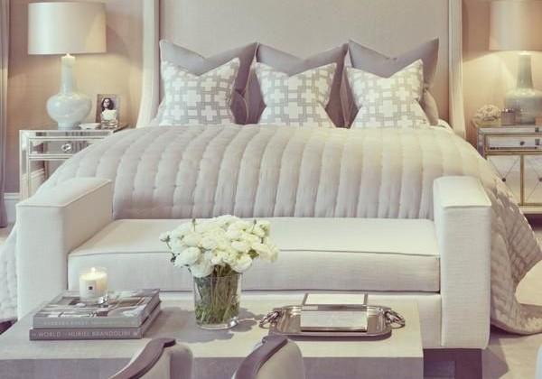 Decoração dos quartos em tons neutros