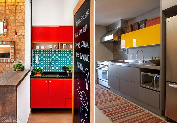 Cozinhas pequenas e coloridas 11